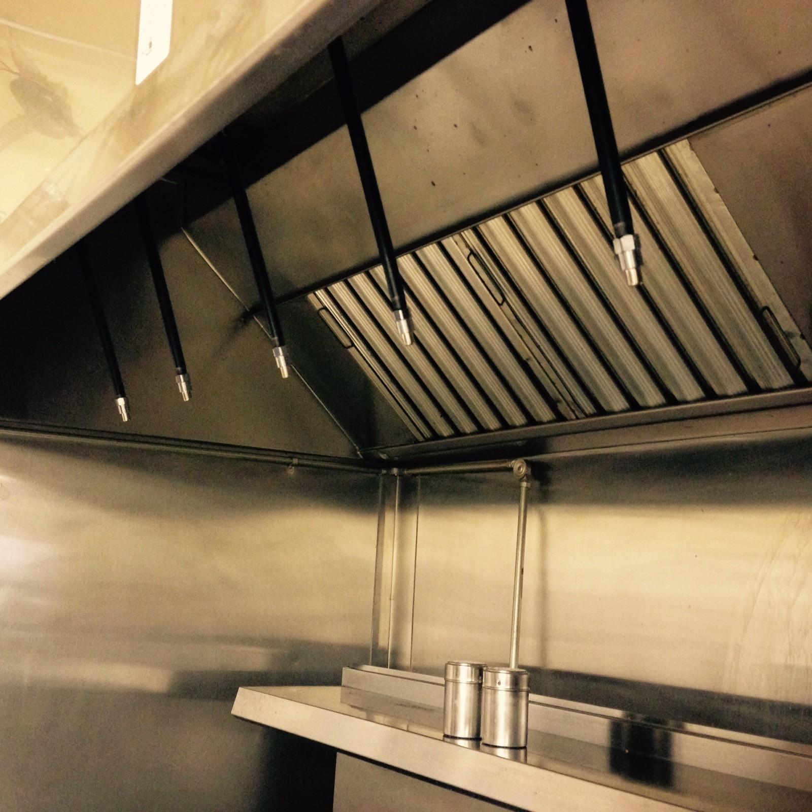 Restaurant Kitchen Without Hood: Fire Suppression System Installation